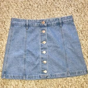 Dresses & Skirts - Blue jean mini skirt